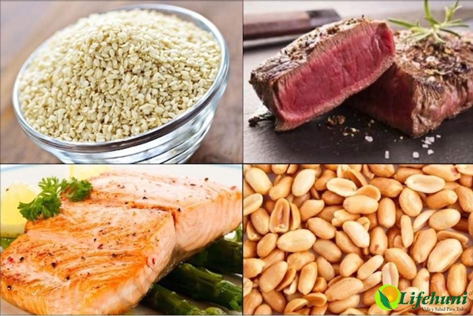 Alimentos ricos en B3